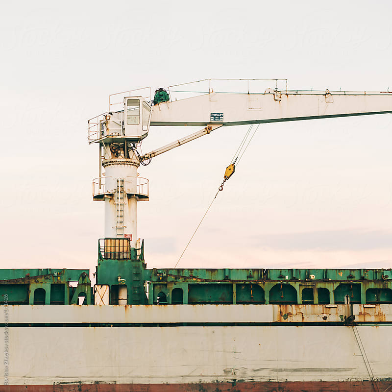 Part of the ship's crane by Borislav Zhuykov for Stocksy United