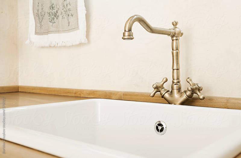 Old fashioned sink by Borislav Zhuykov for Stocksy United