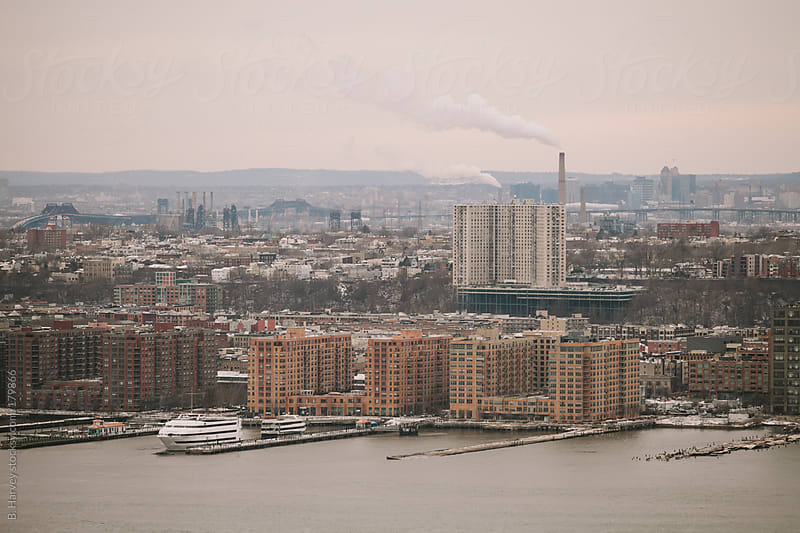 New York City shot from above on a cloudy day by B. Harvey for Stocksy United
