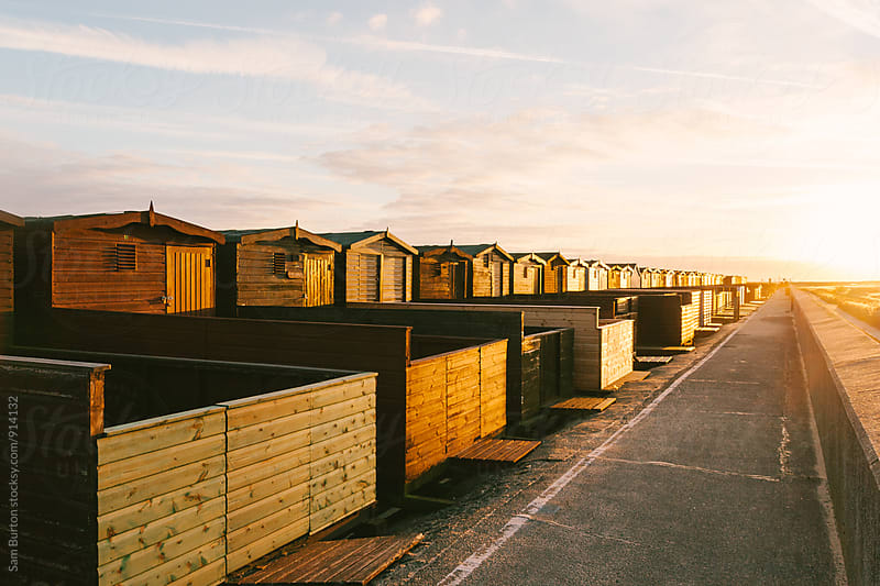 Beach huts by Sam Burton for Stocksy United