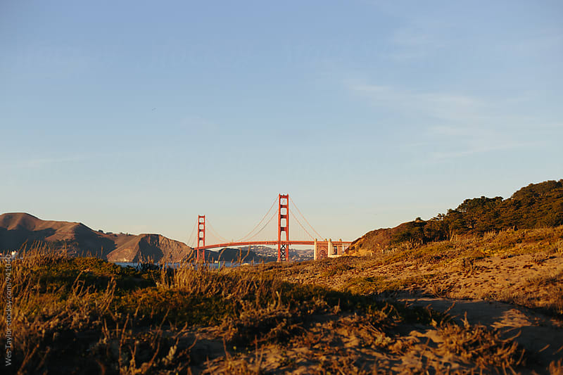 Golden Gate Bridge from Baker Beach by Wes Taylor for Stocksy United