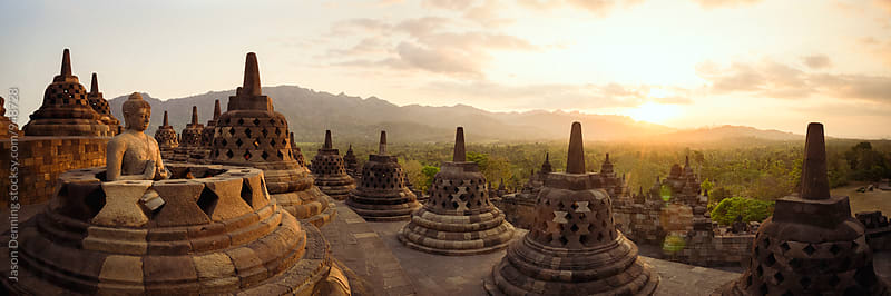 Borobodur Temple, Indonesia by Jason Denning for Stocksy United