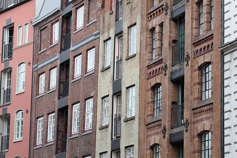 Close up of beautiful old warehouses in hamburg by Marcel for Stocksy United
