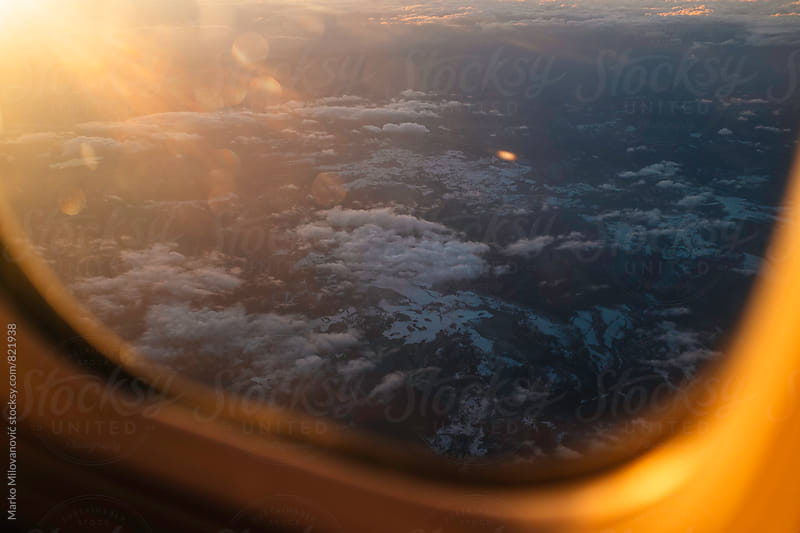 View from the airplane window by Marko Milovanović for Stocksy United