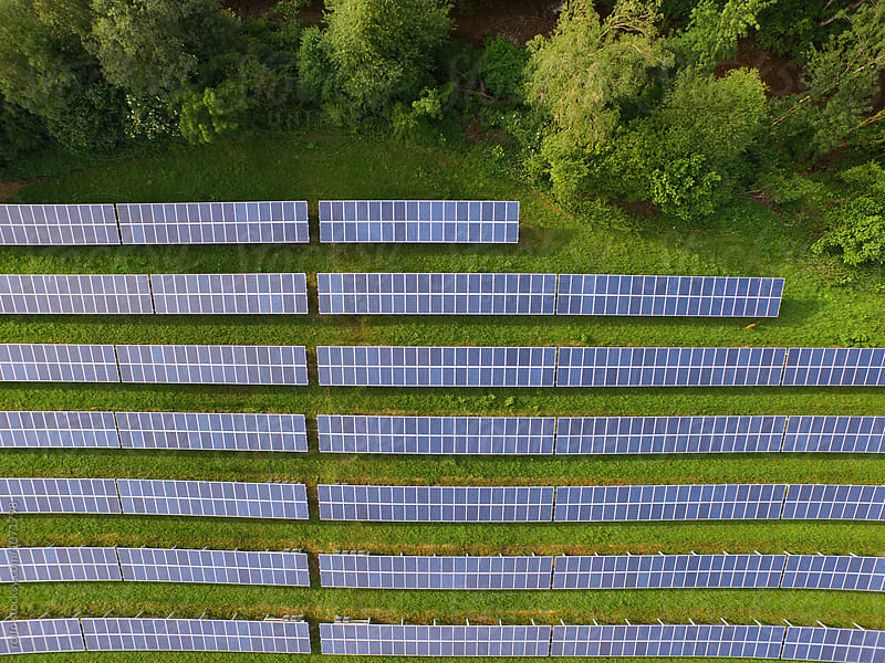 Alternative energy panels  by rolfo for Stocksy United