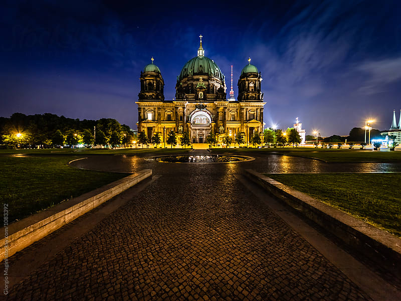Berlin Cathedral by Night, German Landmark by Giorgio Magini for Stocksy United