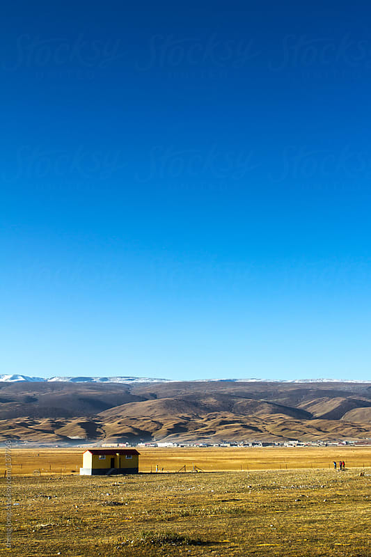 small house in Tibetan Plateau by zheng long for Stocksy United