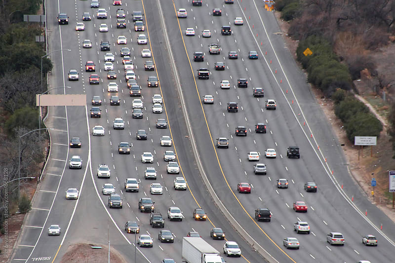 Busy freeway in Los Angeles by Per Swantesson for Stocksy United