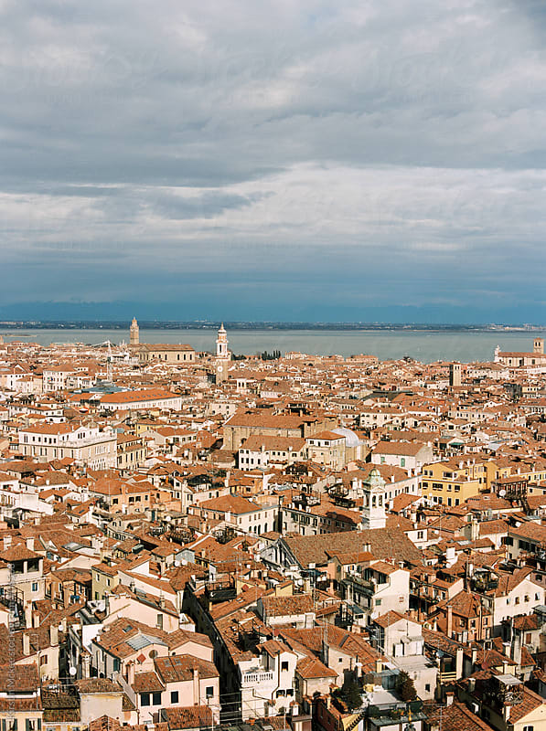 View from St Mark's Campanile, Venice by Kirstin Mckee for Stocksy United