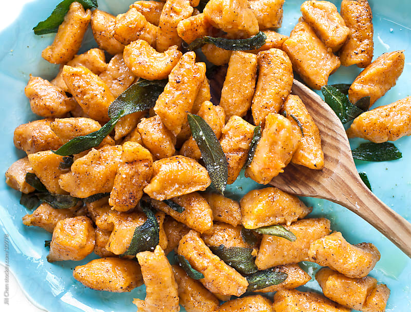 Sweet Potato Gnocchi by Jill Chen for Stocksy United