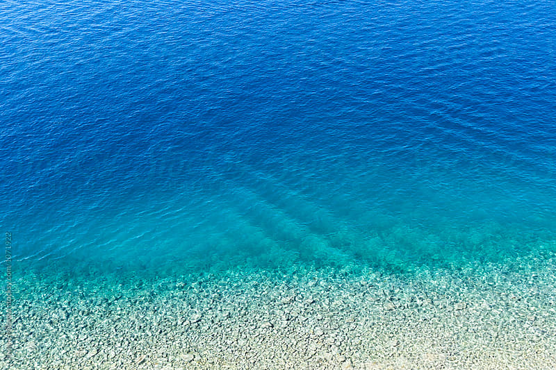Aerial view of the ripely surface of the Adriatic Sea  by Jovana Milanko for Stocksy United