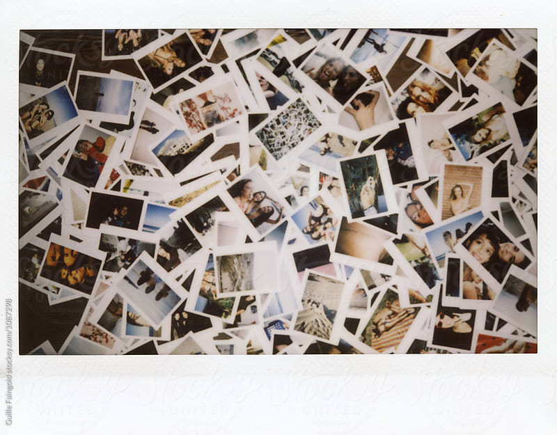 Polaroid shots in mess by Guille Faingold for Stocksy United