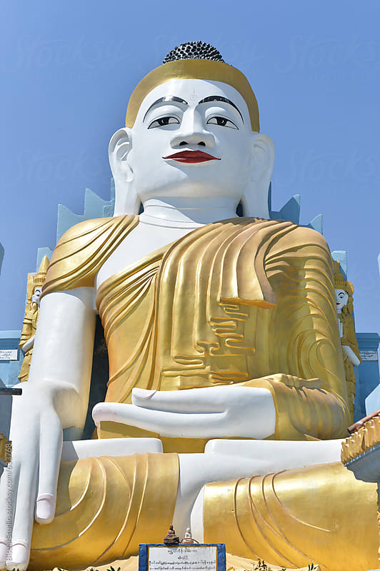 Buddha statue in Indein by Bisual Studio for Stocksy United
