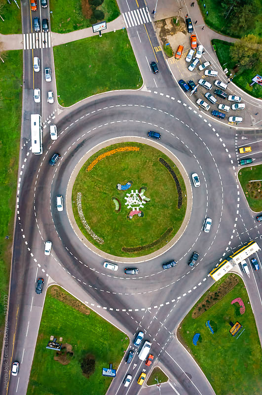 Roundabout from the sky by Jelena Jojic Tomic for Stocksy United