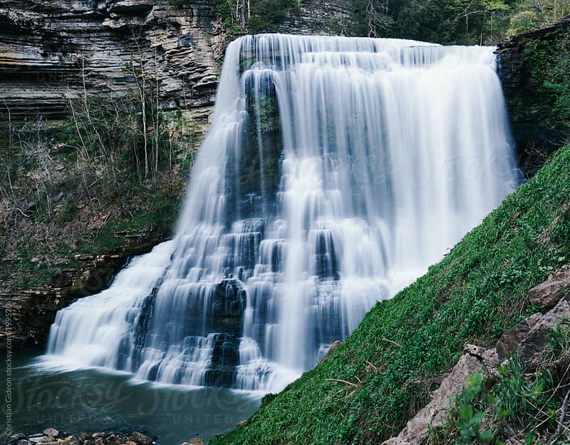 Burgess Falls Tennesee by Christian Gideon for Stocksy United