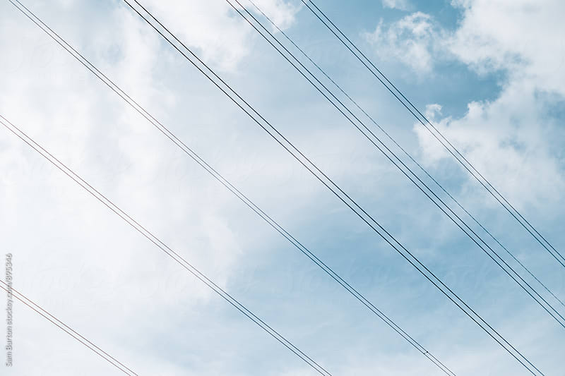 Power lines by Sam Burton for Stocksy United