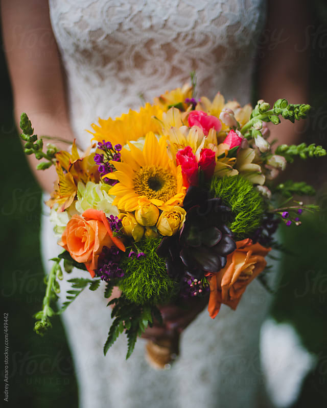 Late summer wedding bouquet by Audrey Amaro for Stocksy United