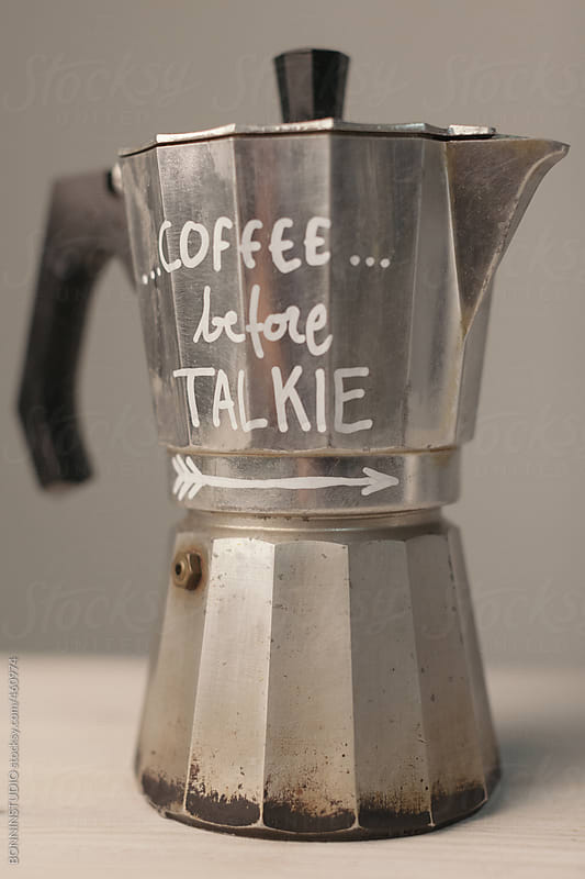 Coffee before talkie. by BONNINSTUDIO for Stocksy United