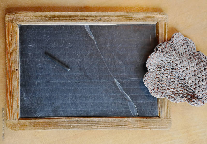 Vintage wooden framed school slate by rolfo for Stocksy United