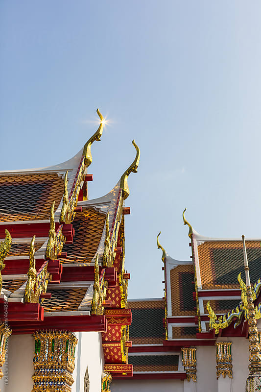 Roofs in Wat Pho, Bangkok , Thailand by michela ravasio for Stocksy United