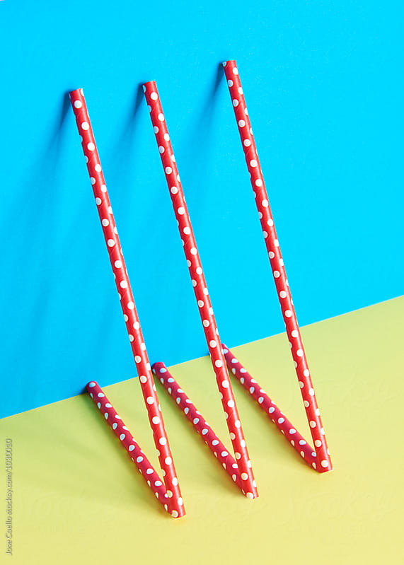 colourful straws by Jose Coello for Stocksy United