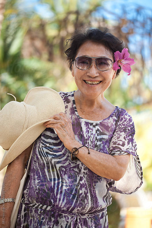 Vibrant Senior on Vacation by Jill Chen for Stocksy United