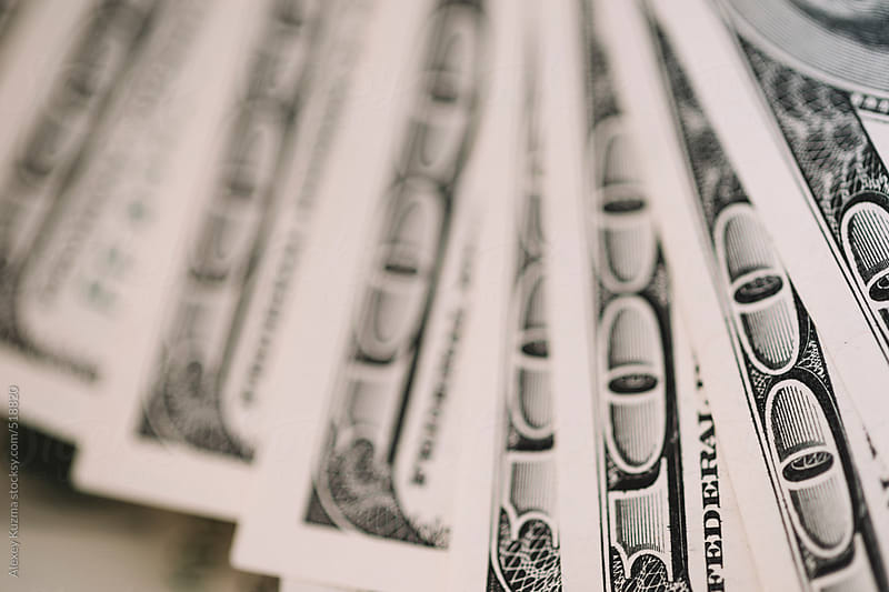 Close Up Of One Hundred Dollar Bills,selective focus by Alexey Kuzma for Stocksy United