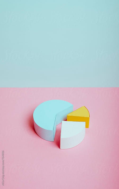 Pie chart by Alita Ong for Stocksy United