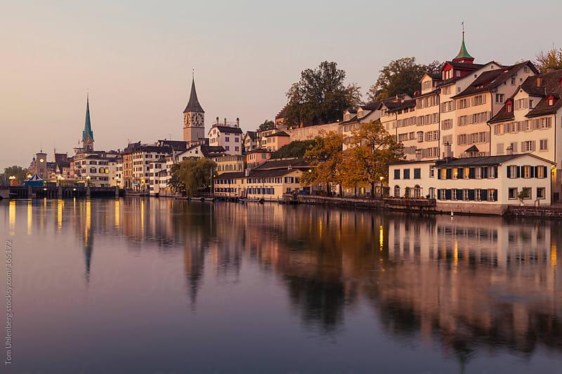 Zurich at Dawn (Switzerland) by Tom Uhlenberg for Stocksy United
