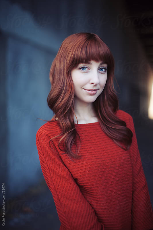 Redhead Woman Urban Portrait by Kevin Russ for Stocksy United
