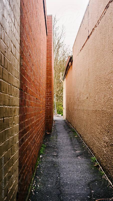 empty alleway by Gillian Vann for Stocksy United