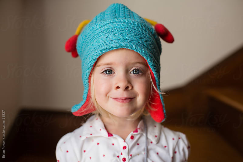 cute girl in hat by Brian Powell for Stocksy United
