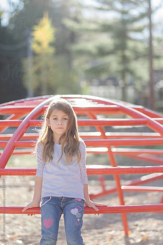 Cute Little Girl at the Playground by Aleksandra Jankovic for Stocksy United
