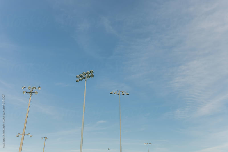 Giant Outdoor Lighting over Sports Field by suzanne clements for Stocksy United
