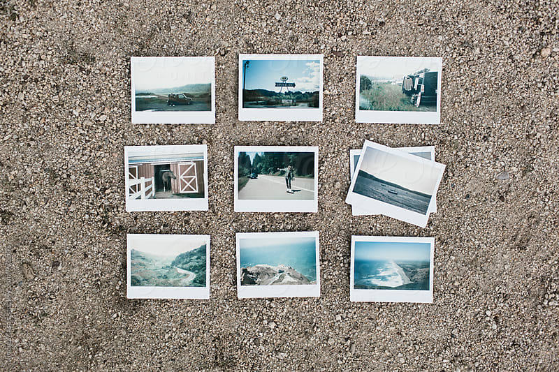 layout grid of instant photos by Nicole Mason for Stocksy United