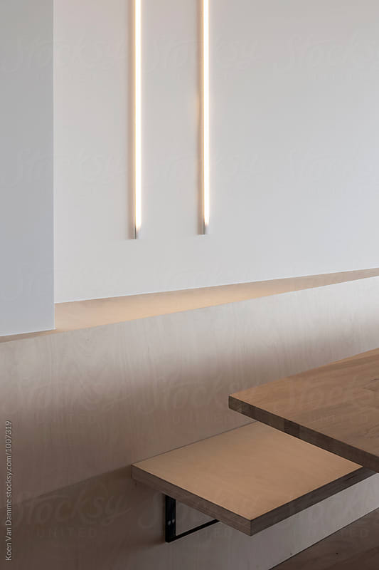 bench and tube lamps by Koen Van Damme for Stocksy United
