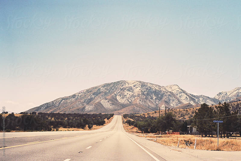 Driving through Arizona by Jared Harrell for Stocksy United