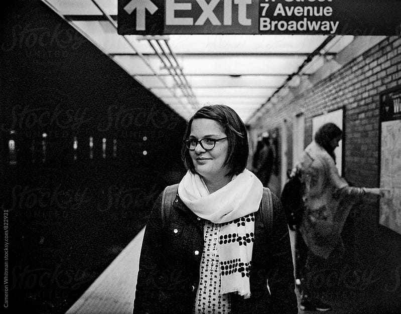 Subway portrait of a beautiful woman by Cameron Whitman for Stocksy United