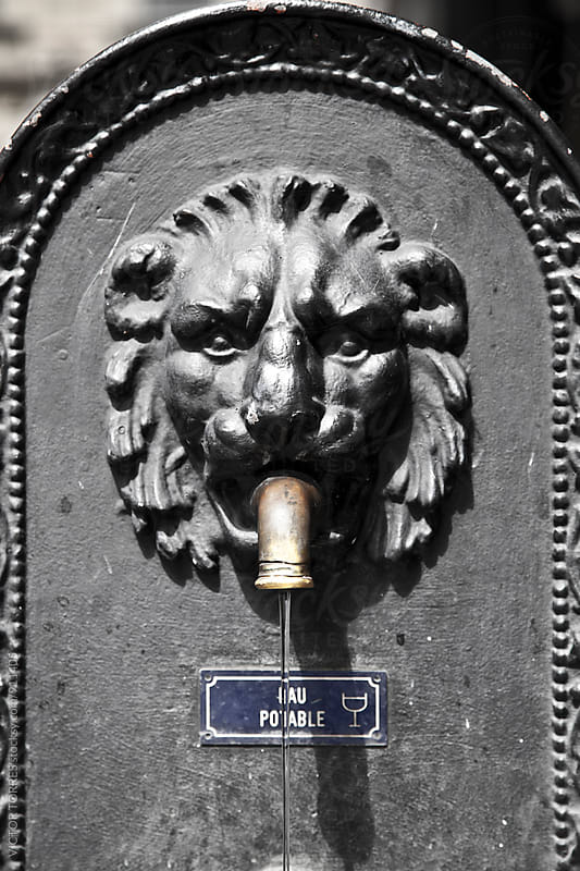 Old Fountain with a Lion Face by Victor Torres for Stocksy United