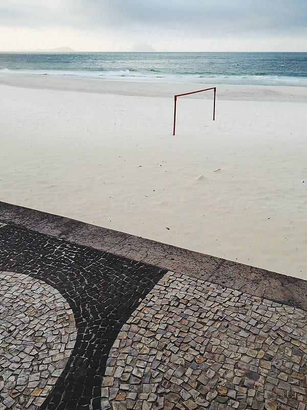 Rio de Janeiro - Goal on Beach by VISUALSPECTRUM for Stocksy United