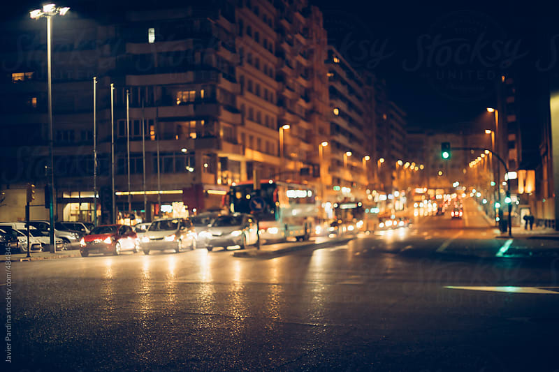 traffic on the street by Javier Pardina for Stocksy United