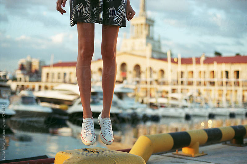 Woman jumping. Only legs. by Lyuba Burakova for Stocksy United