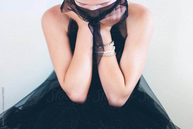 Girl in black tulle by Jacqui Miller for Stocksy United