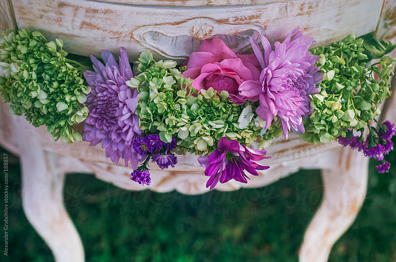 Bunch of flowers on vintage drawer by Alexander Grabchilev for Stocksy United