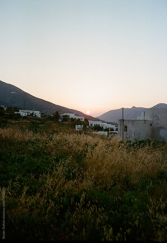 Sifnos Sunset  by Skyler Dahan for Stocksy United