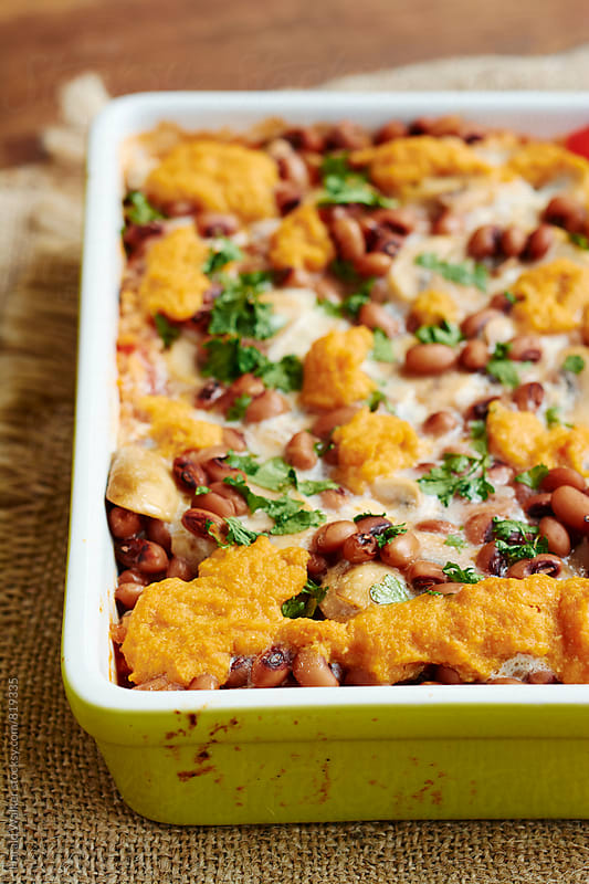 Vegan Black-eyed Pea Casserole by Harald Walker for Stocksy United