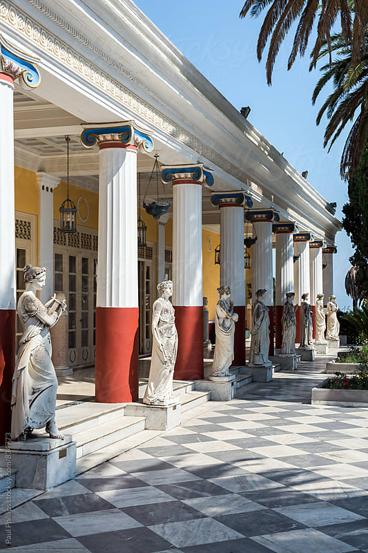 Peristyle of the Muses, Achilleion Palace. Corfu, Greece. by Paul Phillips for Stocksy United