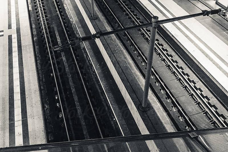Train station in Berlin by Mauro Grigollo for Stocksy United