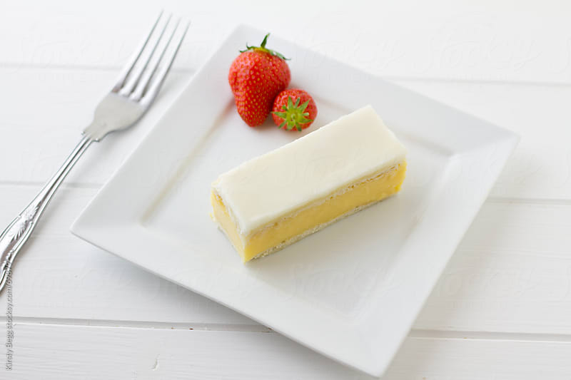 Vanilla Custard Slice  by Kirsty Begg for Stocksy United