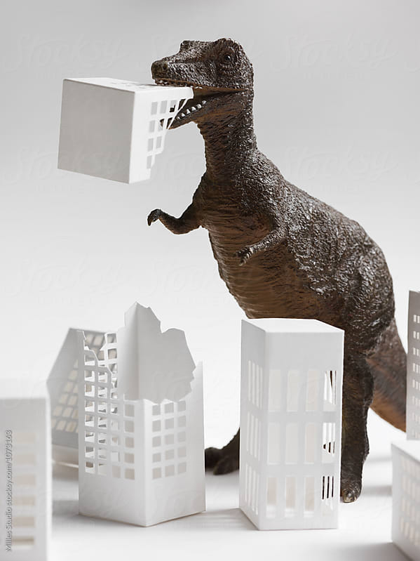 Dinosaur in the City by Milles Studio for Stocksy United